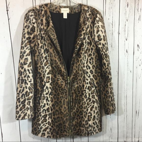 cd5a86d28580 Chico's Jackets & Coats   Chicos Faux Leopard Fur Coat Jacket   Poshmark